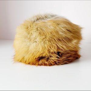 vintage super soft real fur round hat